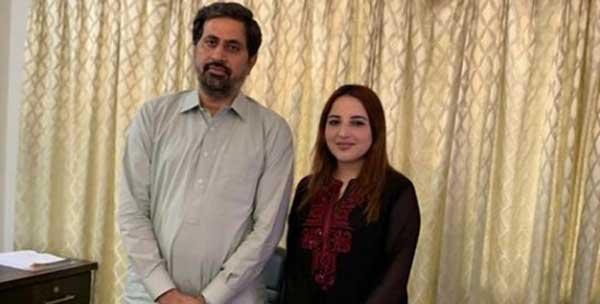 hareem shah with fiaz-ul-hassan