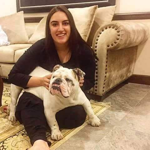 bhakhtawar bhutto with her dog